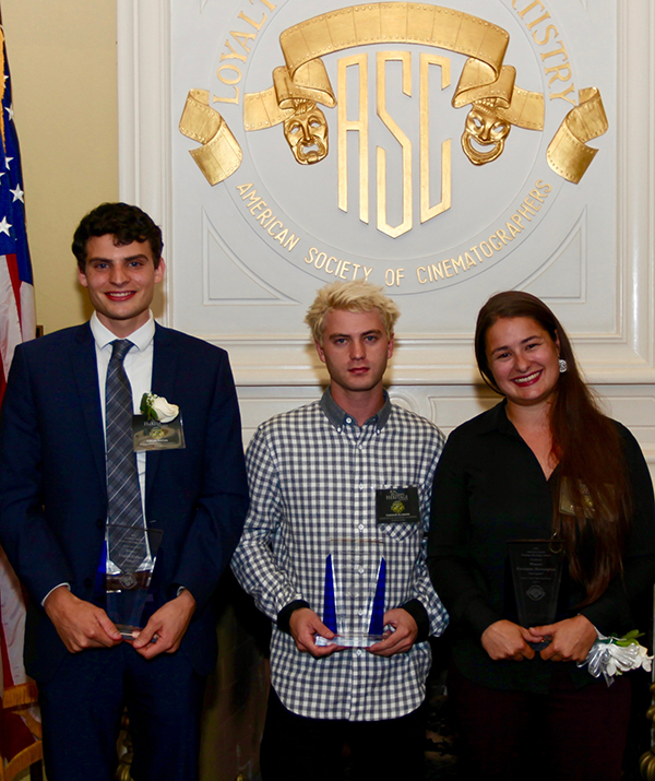 ASC Student Heritage Award winners (L-R) Logan Fulton, Connor Ellmann, and Favienne Howsepian