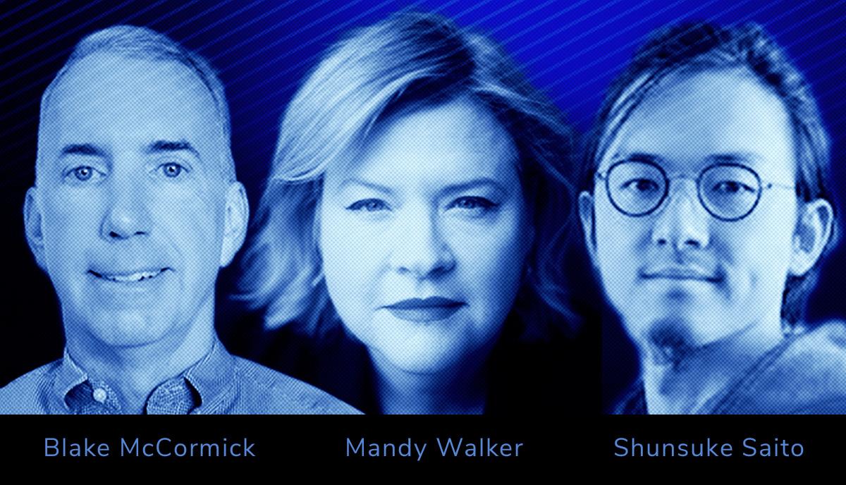 Blake McCormick, Mandy Walker, Shunsuke Saito